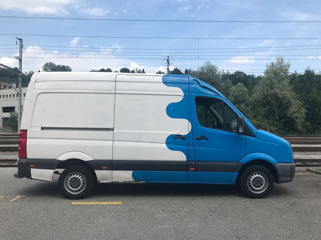 Blueporter VW Crafter Kastenwagen (Lieferwagen) Seitenansicht